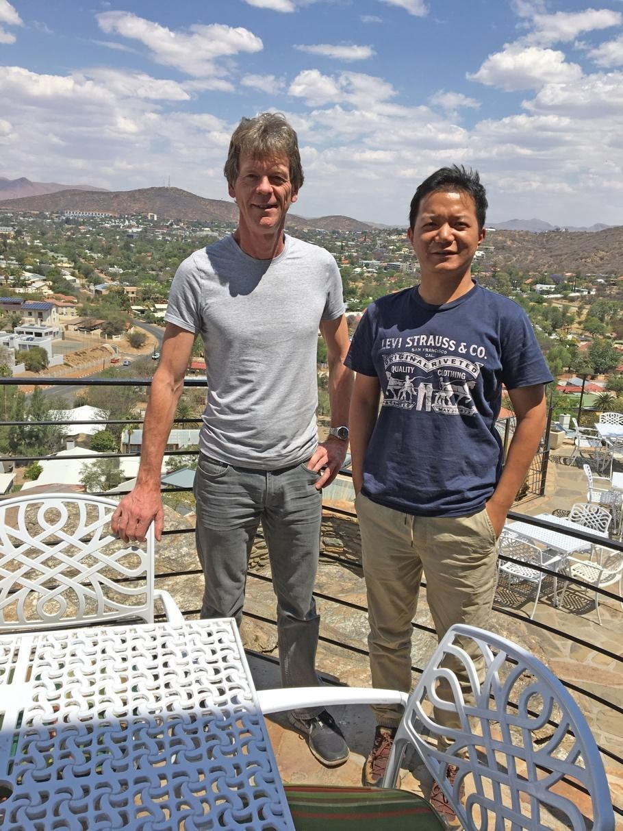 Jeremy Richards and Xuyang Meng in Windhoek, Namibia