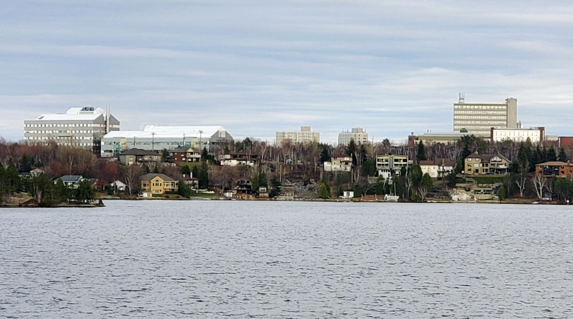View of Laurentian University campus and Willet Green Miller Centre